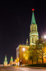 Night view of Moscow Kremlin, Russia