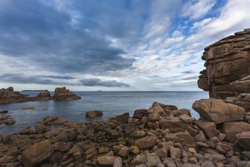 Côte de granite rose en Bretagne