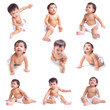 baby isolated on white background