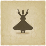 dervish dancer old background poster