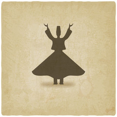 dervish dancer old background