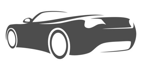 silhouette car convertible