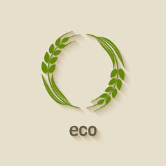 wheat eco symbol