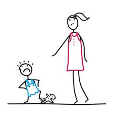 Trotzphase - Mutter und Kleinkind