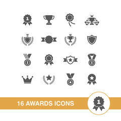 Awards icons set.
