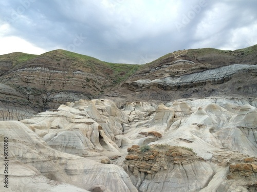 canvas print picture berge in den badlands in canada