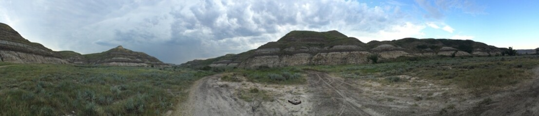 badlands mountains at canada