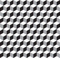 Seamless Geometric Cube Texture Pattern
