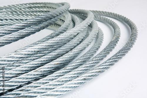 Foto op Plexiglas Metal steel rope