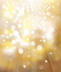 Vector glitter golden background.