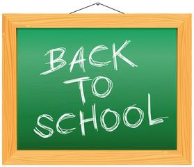Vector Chalkboard - Back to School