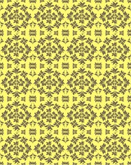 Yellow floral vector background