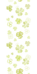 clover textile textured line art vertical seamless pattern