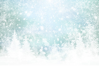Vector winter background.