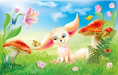 fairy happy baby fox