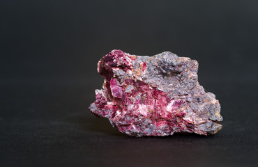 Erythrite (red cobalt) from Morocco. 3.7cm across.