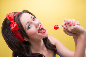 Sexy woman with sweets