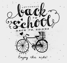 Back to School Vintage Typography Label
