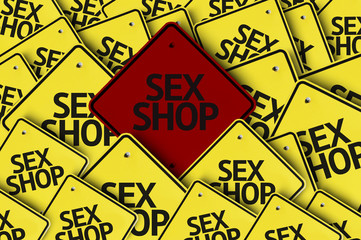 Sex Shop written on multiple road sign