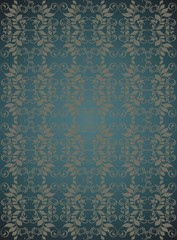 Dark blue floral vector background