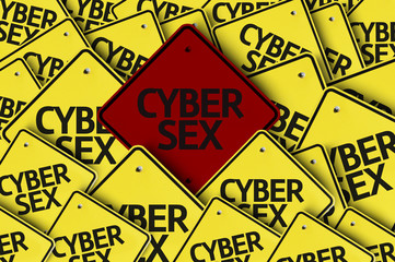 Cyber Sex written on multiple road sign