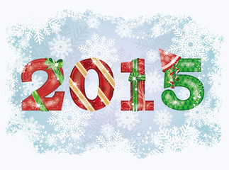 2015 Happy New Year background. vector