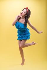 Candywoman dancing