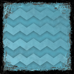 Blue grunge background. Abstract vintage texture with frame and