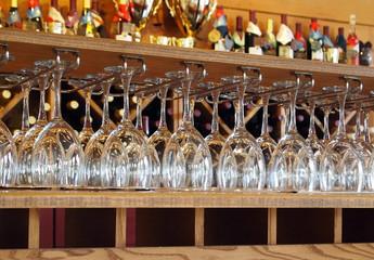 Wine Glasses In Tasting Room