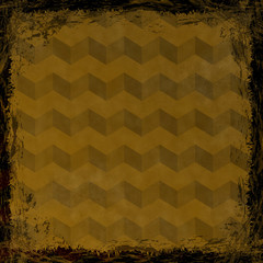 Brown, Gold grunge background. Abstract vintage texture with fra