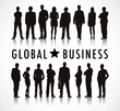 Business People with Global Business Concept