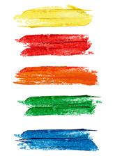 Collection of colorful abstract watercolor banners/speech bubble