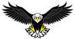 eagle mascot spread the wings - 68785433
