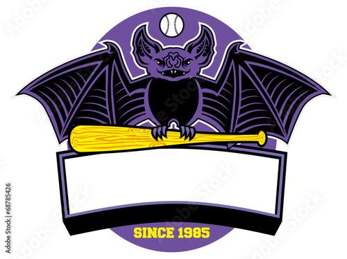 bat baseball mascot
