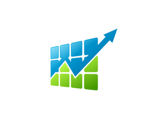 finance grow arrow logo abstract stock exchange