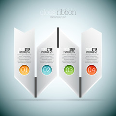Gloss Ribbon Infographic