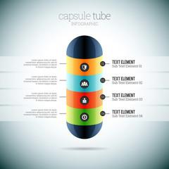 Capsule Tube Infographic