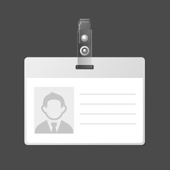 Blank Identification Card Badge ID Template.