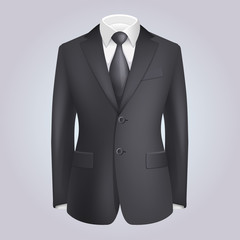 Male Clothing Dark Suit with Tie.
