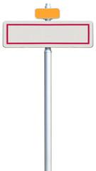 panneau d'entrée de ville