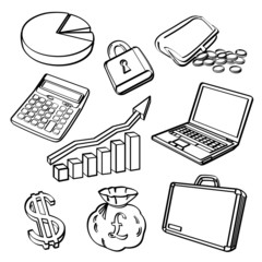 Financial & Business Icon Set