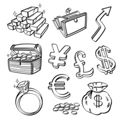 Financial & Currency Icon Set