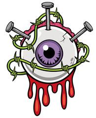 Vector illustration of Eyeball