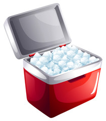 A bucket of icecubes