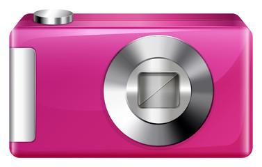 A pink camera