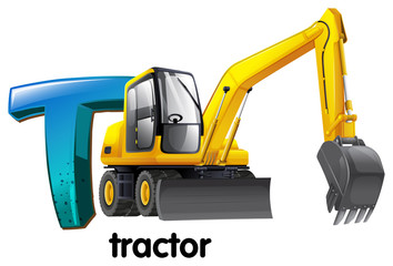A letter T for tractor