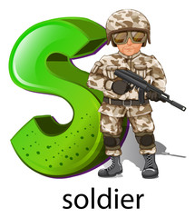 A letter S for soldier