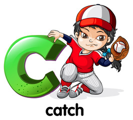 A letter C for catch