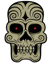 Vector illustration of Skull