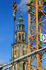 Constructionwork in the centre of Groningen